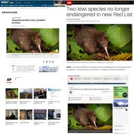 IUCN Red List - Kiwi image featured (2017)